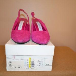 Vintage Woman's VIA SPIGA Hot Pink Suede Sz 6 1/2
